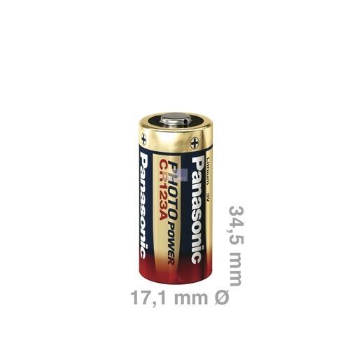 Klick zeigt Details von Batterie CR123A 3,0V 1400mah  Lithium-Fotobatterie, Panasonic