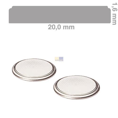 Klick zeigt Details von Knopfzelle CR2016 Panasonic, 2 Stück