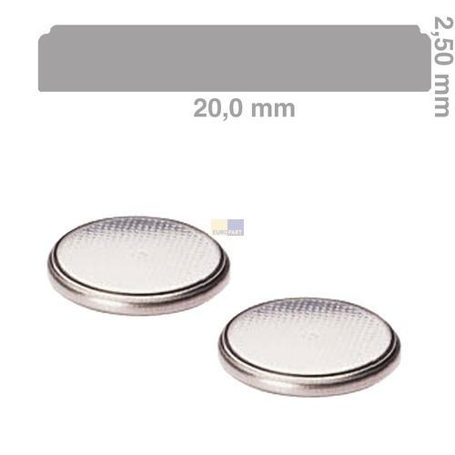 Klick zeigt Details von Knopfzelle CR2025 Lithium, 2 Stück