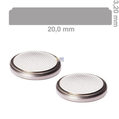Klick zeigt Details von Knopfzelle CR2032 Lithium, 2 Stück