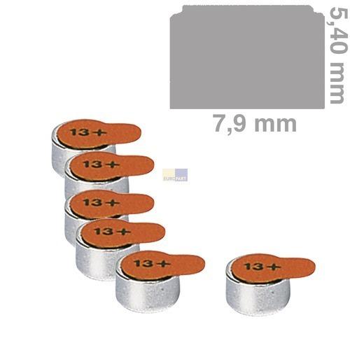 Klick zeigt Details von Knopfzelle PR13 Panasonic, 6 Stück