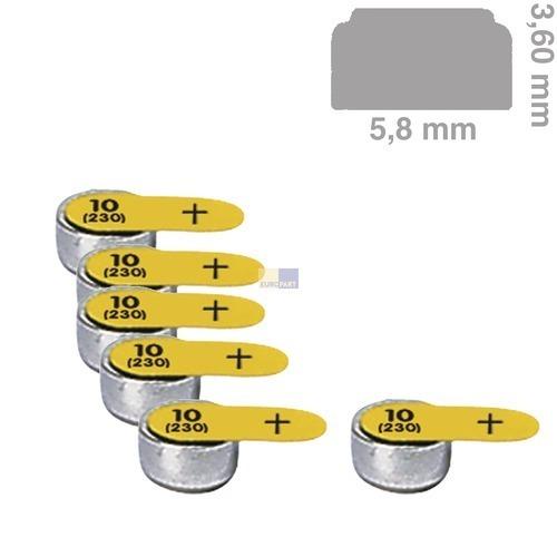 Klick zeigt Details von Knopfzelle PR10 Panasonic, 6 Stück