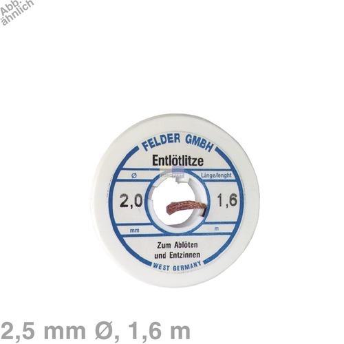 Klick zeigt Details von Entlötlitze 2,5mmØ, 1,6m Rolle