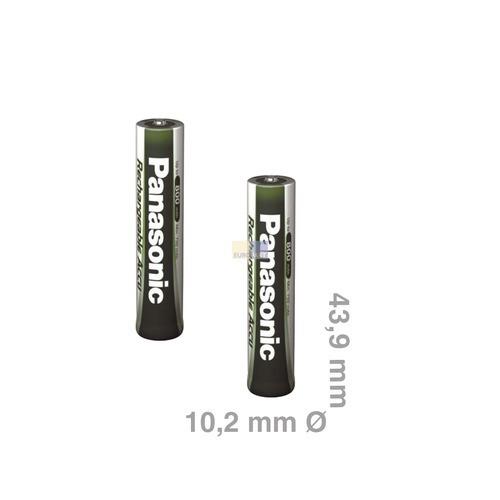 Klick zeigt Details von Akku Micro P03 Panasonic 750mAh, 2 Stück,