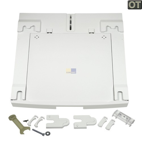 Klick zeigt Details von Zwischenbaurahmen mit Arbeitsplatte AEG 916093155/7 SKP11 für Waschmaschine Trockner