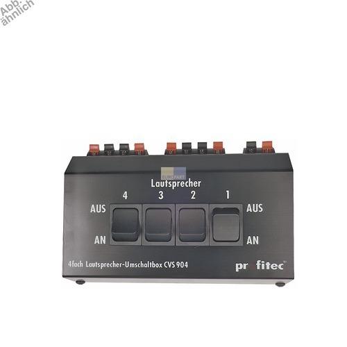 Klick zeigt Details von Umschaltbox für Lautsprecher