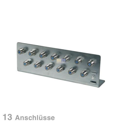 Klick zeigt Details von Erdungswinkel für Koaxkabel 13-fach