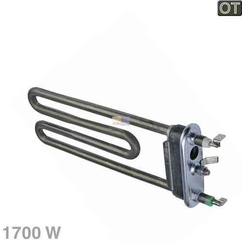 Klick zeigt Details von Heizelement 1700W 230V Temperaturbegrenzer Waschmaschine Indesit C00086357