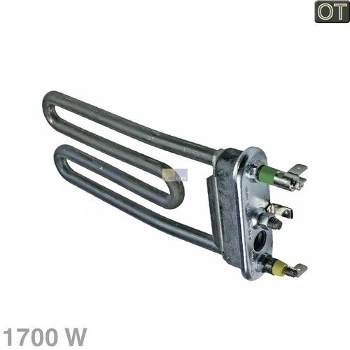 Klick zeigt Details von Heizelement 1700W 230V Indesit C00087188 Temperaturbegrenzer Waschmaschine