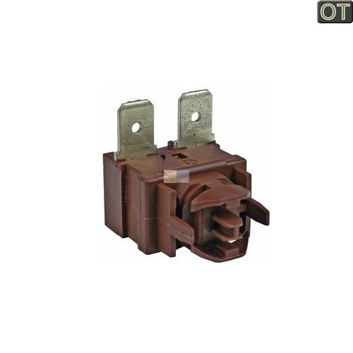 Klick zeigt Details von Tastenschalter 1-fach Indesit Ariston C00140607 Ein/Aus Schalter für Spülmaschine