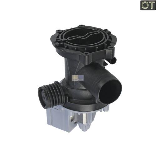Klick zeigt Details von Ablaufpumpe mit Pumpenstutzen und Filter
