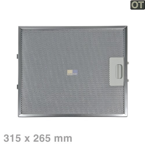 Klick zeigt Details von Fettfilter eckig Metall 315x265mm