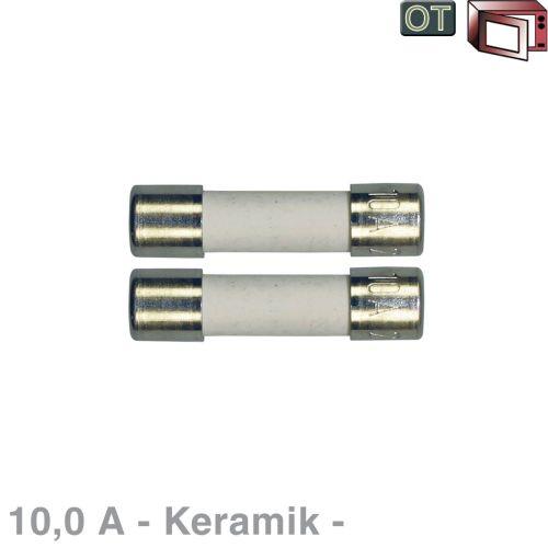Klick zeigt Details von Keramik-Sicherung 10,0A, 2 Stück