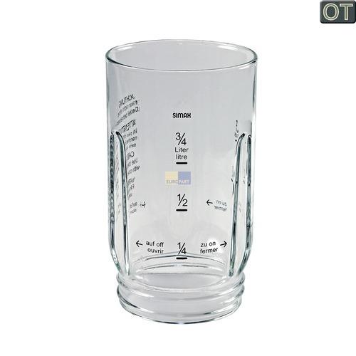 Klick zeigt Details von Behälter für Mixer, transparent Glas