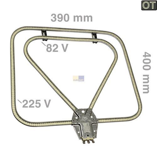 Klick zeigt Details von Rillenrohr-Heizelement 650/650W 82/225V Unterhitze
