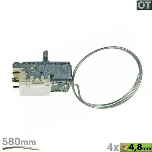 Klick zeigt Details von Thermostat K56-L1891 Ranco 580mm Kapillarrohr 4x4,8mm AMP