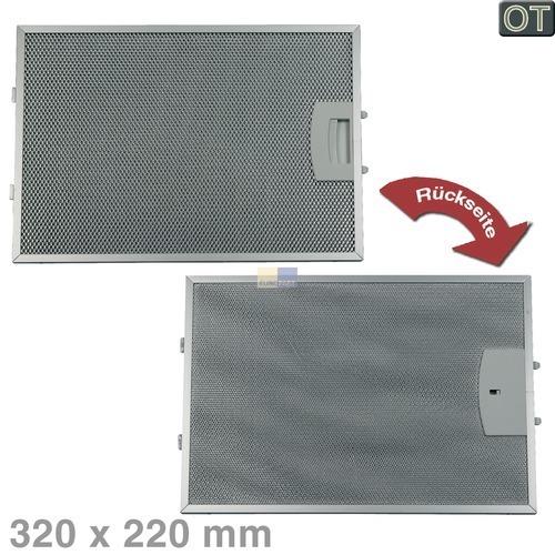 Klick zeigt Details von Fettfilter eckig Metall 320x220mm