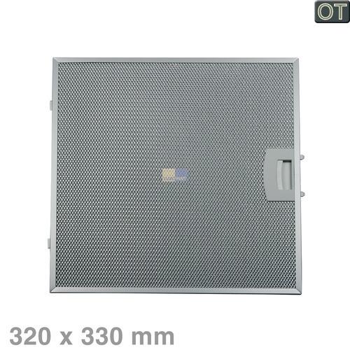 Klick zeigt Details von Fettfilter eckig Metall 320x330mm