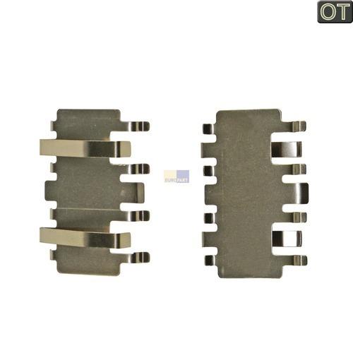 Klick zeigt Details von Klammer Abtropfschale/Blende, 2 Stück, BSH-Gruppe/Bosch/Siemens.. 00419958.