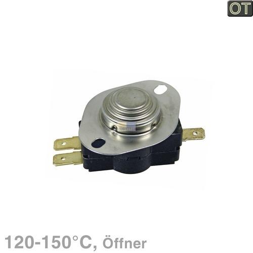 Klick zeigt Details von Temperaturbegrenzer 120-150°C Klixon Öffner für Trockner Bosch Siemens 00423039