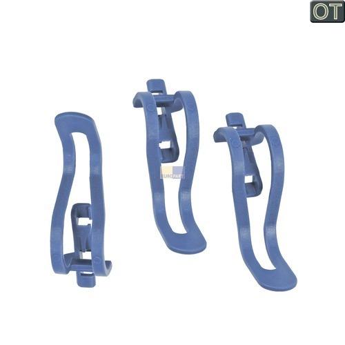 Klick zeigt Details von 3 Kleinteilehalter Geschirrkorb Bosch Siemens 00423712 Klammern für Spülmaschinen