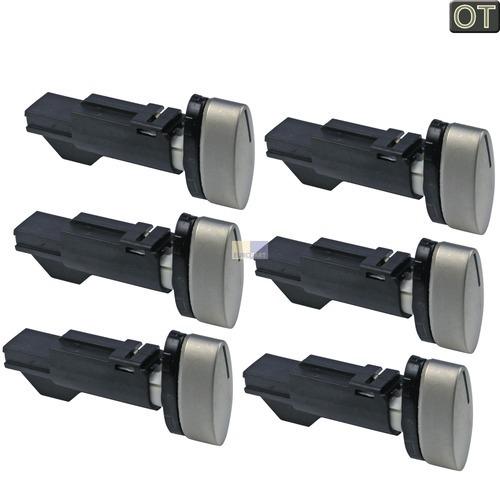 Klick zeigt Details von 6 Stück Knopf Knebel Bosch 427484 00427484 Backofen Steuerung Neff Knebelset