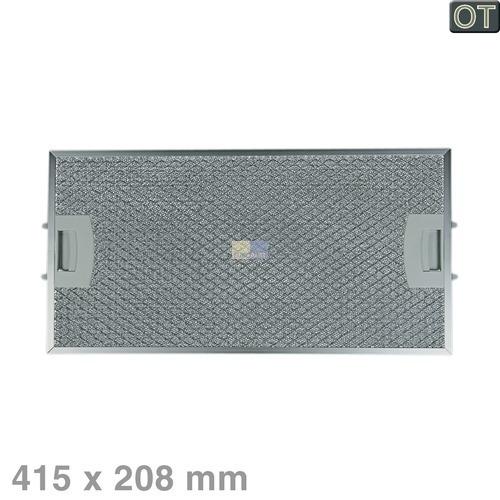 Klick zeigt Details von Fettfilter eckig Metall, hinten