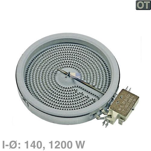 Klick zeigt Details von HiLight-Strahlheizkörper 140mmØ  1200W 230V, BSH 00436605