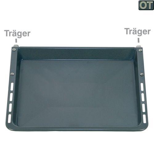 Klick zeigt Details von Backblech 460x400mm 28mm hoch emailliert, mit Träger, OT!