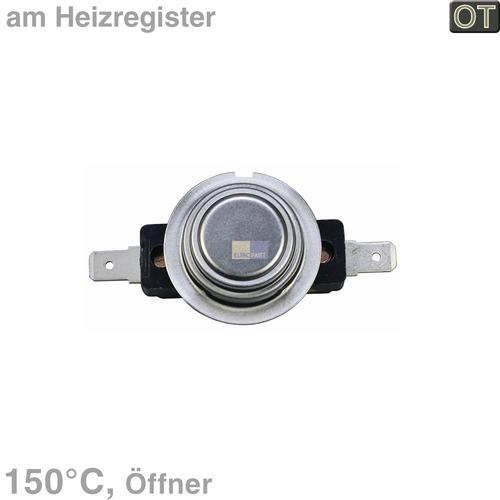 Klick zeigt Details von Temperaturbegrenzer 150° Klixon Bosch Siemens 00600158 Öffner mit Reset Trockner