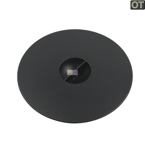 Klick zeigt Details von Bohnenbehälterdeckel schwarz rund