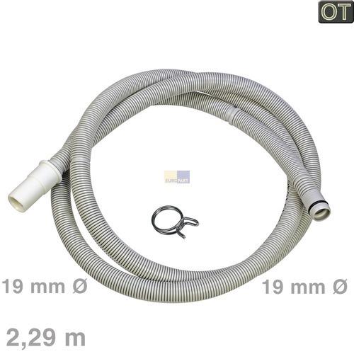 Klick zeigt Details von Ablaufschlauch 2,29m OT! Siemens 00668114 Entleerungsschlauch Spülmaschine
