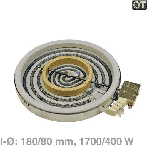 Klick zeigt Details von EGOnomic-Strahlheizkörper 180/80mmØ 1700/400W 230V