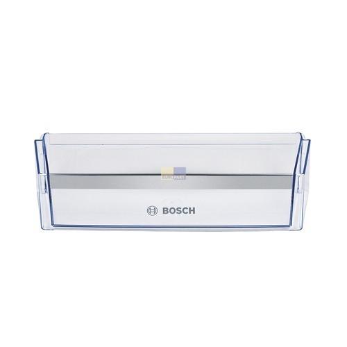Klick zeigt Details von Abstellfach Flaschenabsteller 100mm hoch BOSCH 00704904 Original für Kühlschrank