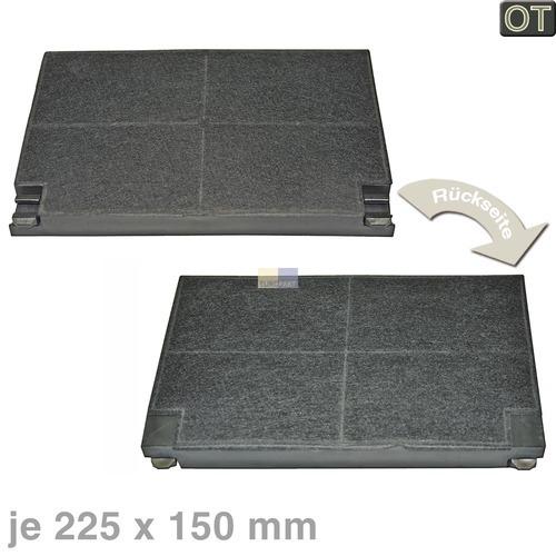 Kohlefilter Küppersbusch 505427 Zub551 Original 225x150mm 2Stk