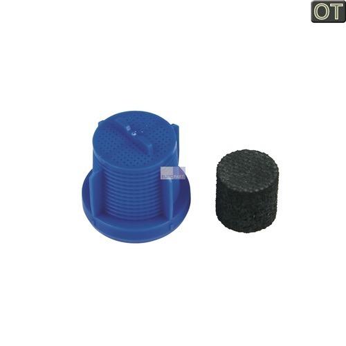 Klick zeigt Details von Sieb + Schalldämpfer für Zulaufschlauch Aquastopschlauch