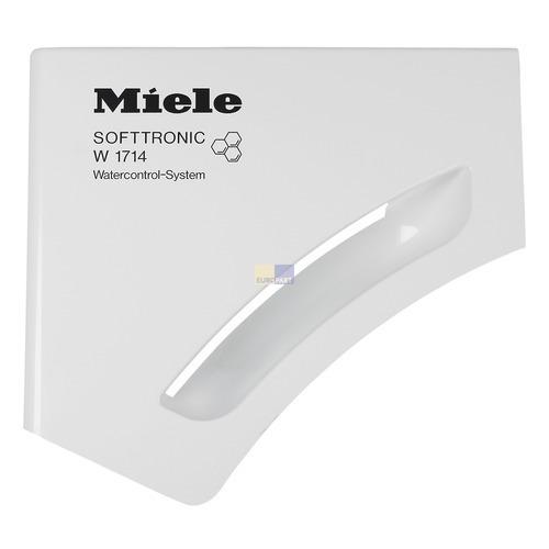 Klick zeigt Details von Griffplatte mit Griffmulde für Waschmitteleinspülschale bedruckt