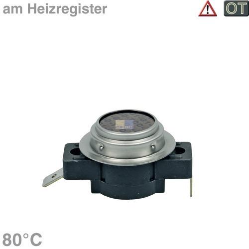 Klick zeigt Details von Temperaturbegrenzer 80° Miele 6671910 Klixon für Trockner Wäschetrockner