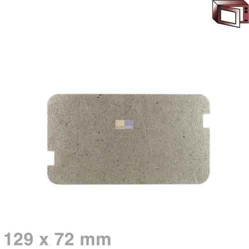 Klick zeigt Details von Hohlleiterabdeckung 129x72mm Sharp PCOVPA309WRE0 Original für Mikrowelle