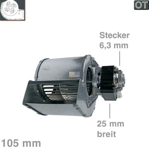 Klick zeigt Details von Querstromlüfter 105mm TypA Motor rechts  OT! Stiebel-Eltron 245319